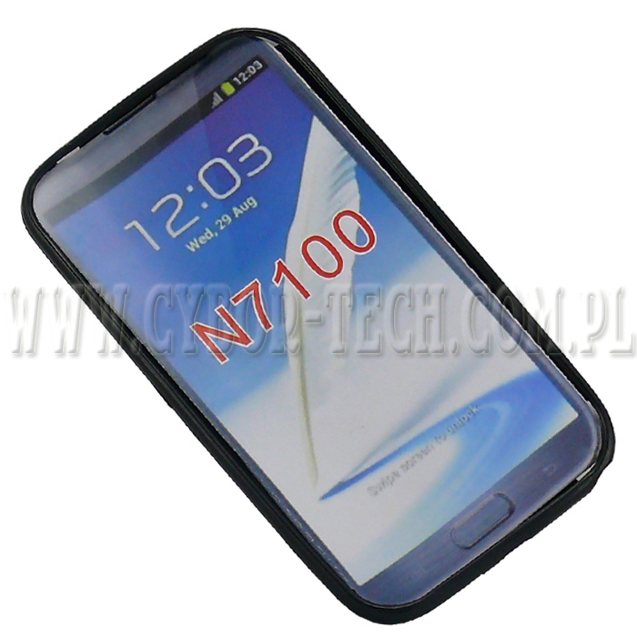 Back Case S SAMSUNG  Galaxy Note II (N7100), czarny